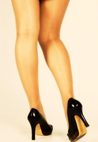 Bare legs too